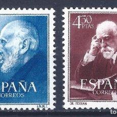 Sellos: EDIFIL 1119-1120 DOCTORES RAMÓN Y CAJAL Y FERRÁN 1952 (SERIE COMPLETA). CENTRADO DE LUJO. MNH **. Lote 121284019
