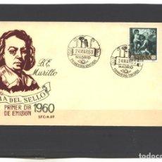 Sellos: ESPAÑA 1960 - EDIFIL NRO. 1274 - BARTOLOME E. MURILLO - NUEVO. Lote 121468535