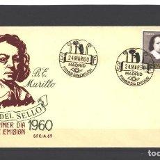 Sellos: ESPAÑA 1960 - EDIFIL NRO. 1275 - BARTOLOME E. MURILLO - NUEVO. Lote 121469667