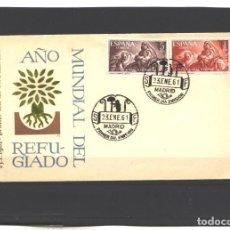 Sellos: SPAÑA 1961 - SPD - EDIFIL NRO. 1326-27 - AÑO MUNDIAL DEL REFUGIADO - NUEVO. Lote 121514363