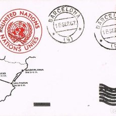 Sellos: 0521. CARTA BARCELONA 1967. RE UNITED NATIONS. MOBILE TOUR 67. Lote 121748635
