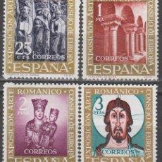 Sellos: EDIFIL 1365/8, ARTE ROMANICO, PRIMER DIA DE 24-7-1961 NUEVOS *** (SERIE COMPLETA). Lote 121748995