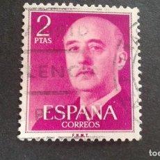 Sellos: ESPAÑA,1955-1956,GENERAL FRANCO,EDIFIL 1158,MATASELLO DE LAS PALMAS,(LOTE AR). Lote 122089539