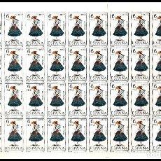 Sellos: ESPAÑA PLIEGO DE 50 SELLOS TRAJES TIPICOS (CORUÑA) AÑO 1968 NUEVOS. Lote 122090487