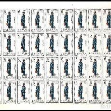Sellos: ESPAÑA PLIEGO DE 50 SELLOS TRAJES TIPICOS (FERNANDO POO) AÑO 1968 NUEVOS. Lote 122090659
