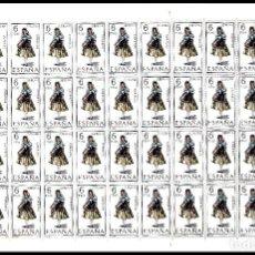 Sellos: ESPAÑA PLIEGO DE 50 SELLOS TRAJES TIPICOS (GERONA) AÑO 1968 NUEVOS. Lote 122090803