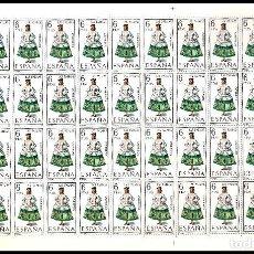 Sellos: ESPAÑA PLIEGO DE 50 SELLOS TRAJES TIPICOS (LAS PALMAS) AÑO 1968 NUEVOS. Lote 122090867