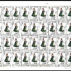Sellos: ESPAÑA PLIEGO DE 50 SELLOS TRAJES TIPICOS (GRANADA) AÑO 1968 NUEVOS. Lote 122090943