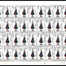 Sellos: ESPAÑA PLIEGO DE 50 SELLOS TRAJES TIPICOS (GUIPUZCOA) AÑO 1968 NUEVOS. Lote 122091095