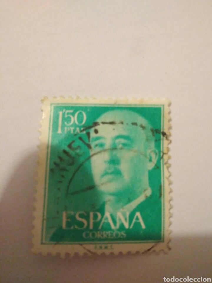 SELLO FRANCO EDIFIL 1155 ESPAÑA 1'50 PESETAS.8 (Sellos - España - II Centenario De 1.950 a 1.975 - Usados)