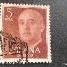 Sellos: ESPAÑA,1955-1956,GENERAL FRANCO,EDIFIL 1160,USADO,(LOTE AR). Lote 122174519