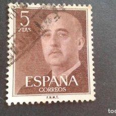 Sellos: ESPAÑA,1955-1956,GENERAL FRANCO,EDIFIL 1160,USADO,(LOTE AR). Lote 122174683