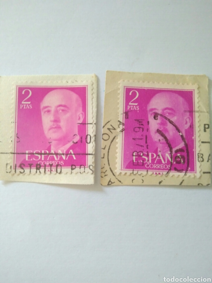 2 SELLO 2 PESETAS FRANCO EDIFIL 1158.ESPAÑA 8 (Sellos - España - II Centenario De 1.950 a 1.975 - Usados)