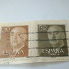Sellos: 2 SELLOS FRANCO 50 Y 30 CENTIMOS ESPAÑA.8. Lote 122186080