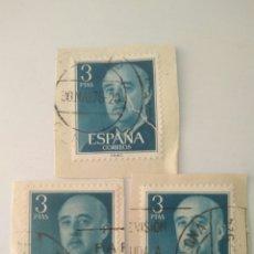 Sellos: 3 SELLOS DE FRANCO 3 PESETAS ESPAÑA.USADO.7. Lote 122212322