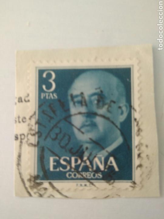SELLO FRANCO 3 PESETAS ESPAÑA USADO.8 (Sellos - España - II Centenario De 1.950 a 1.975 - Usados)