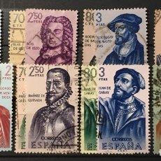 Sellos: 2 SERIES FORJADORES DE AMÉRICA. Nº 1374/81 Y 1454/61. Lote 122622007