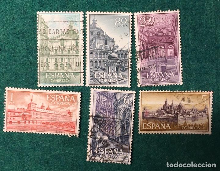 AÑO 1961. REAL MONASTERIO DEL ESCORIAL. Nº 1382/87 (Sellos - España - II Centenario De 1.950 a 1.975 - Usados)