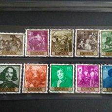 Sellos: EDIFIL 1238 - 1247. 1959. DIEGO VELAZQUEZ. NUEVOS SIN CHARNELA.. Lote 122954287