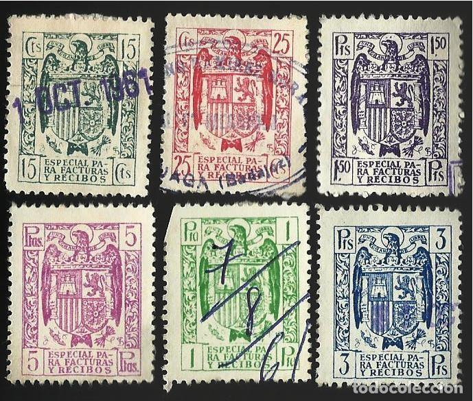 ESPECIAL FACTURAS Y RECIBOS. (Sellos - España - II Centenario De 1.950 a 1.975 - Usados)