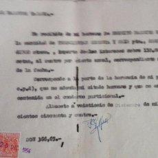 Sellos: LOTE 35 SELLOS FISCAL 25 CENTIMOS ESPECIAL MOVIL, EN DOCUMENTO RECIBO PRIVADO.. Lote 124215887