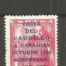 Sellos: ESPAÑA 1951 VISITA A CANARIAS EDIFIL NUM. 1089 NUEVO SIN GOMA. Lote 124227651