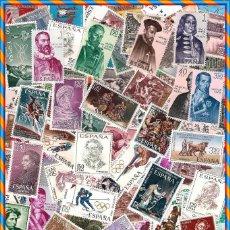 Sellos: LOTE 100 SELLOS NUEVOS DE ESPAÑA DISTINTOS, DE LOS AÑOS 60. Lote 125377942