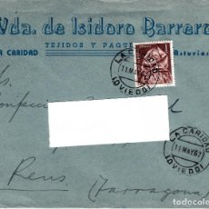 Sellos: SOBRE COMERCIAL DE TEJIDOS VDA. DE ISIDORO BARRERO EN LA CARIDAD- ASTURIAS - MATASELLOS 1962. Lote 127583723