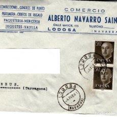 Sellos: SOBRE COMERCIAL DE COMERCIO ALBERTO NAVARRO SAINZ EN LODOSA -NAVARRA- MATASELLOS 1961. Lote 127585291