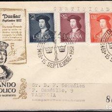 Sellos: 1952, V CENTENARIO DEL NACIMIENTO DE FERNANDO EL CATÓLICO,EDIFIL Nº 1106 / 1110 . Lote 127588047
