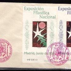 Sellos: 1956, SPD EXPOSICIÓN FILATÉLICA NACIONAL, , PRIMER DÍA ,EDIFIL Nº 1222 / 1223 . Lote 127590119
