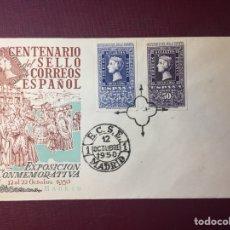 Sellos: SOBRE, CENTENARIO DEL SELLO CORREOS ESPAÑOL,1950.. Lote 127685086