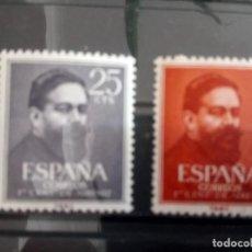 Sellos: ESPAÑA, ISAAC ALBENIZ, SELLOS DE 1960, 1320/21. Lote 127723343