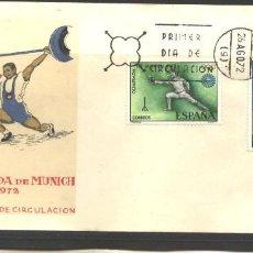 Sellos: ESPAÑA 1972 - SPD EDIFIL NRO. 2098 Y 2101 - JUEGOS OLIMPICO MUNICH - NUEVO. Lote 128143895