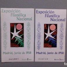 Sellos: ESPAÑA - 1958 - EDIFIL 1222/1223 - SERIE COMPLETA - MNH** - NUEVOS - VALOR CATALOGO 84€.. Lote 128253691