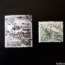 Sellos: ESPAÑA. PERFORADO 'CL'. CH. LORILLEUX & CIA. (BARCELONA). 2 SELLOS.. Lote 128691187