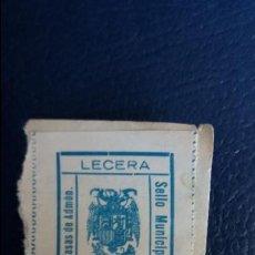 Timbres: SELLO MUNICIPAL TASA DE ADMON 3 PESETAS LECERA ZARAGOZA. Lote 129499591