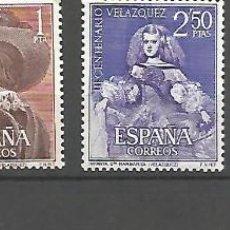 Sellos: ESPAÑA.III CENTENARIO DE LA MUERTE DE VELÁZQUEZ.EDIFL Nº 1340/1343**.SERIE COMPLETA. Lote 130373562