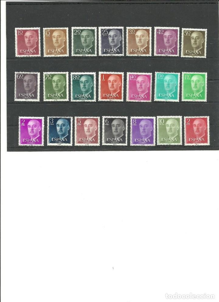 ESPAÑA-1143/63 GENERAL FRANCO NUEVOS SIN FIJASELLOS (SEGÚN FOTO) (Sellos - España - II Centenario De 1.950 a 1.975 - Nuevos)
