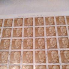 Sellos: PLIEGO DE 100 SELLOS DE FRANCO DE 30 CÉNTIMOS, 1955, NUEVOS. Lote 131465779