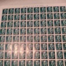 Sellos: PLIEGO DE 100 SELLOS, FRANCO 80 CTMS, NUEVOS, AÑO 1955. Lote 131465963