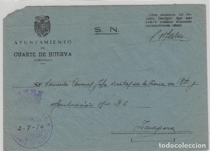 cuarte de huerva (zaragoza ) año 1954 -franqui - Comprar Sellos ...