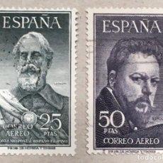 Sellos: EDIFIL 1124 1125 LEGAZPI Y SOROLLA , USADOS, BUEN MATASELLOS, BUEN CENTRAJE, SIN DOBLECES, LUJO. Lote 134135306