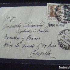 Sellos: JML SOBRE ENVIADO DE SEGURA DE LEON BADAJOZ A SEVILLA CON SELLOS 30 Y 50 CENTIMOS. VER FOTOS.. Lote 134264726