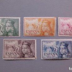 Sellos: ESPAÑA - 1951 - EDIFIL 1097/1101 - SERIE COMPLETA - MNH** - NUEVOS - VALOR CATALOGO 53€.. Lote 135261222
