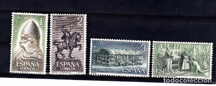EDIFIL 1444/1447. SERIE COMPLETA DEL CID. NUEVOS SIN FIJASELLOS. (Sellos - España - II Centenario De 1.950 a 1.975 - Nuevos)