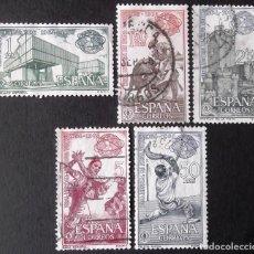 Sellos: EDIFIL 1590-94, SERIE EN USADO, LIMPIA.. Lote 136197338
