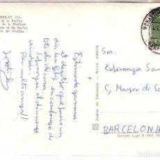 Sellos: ESPAÑA.- TARJETA POSTAL CON MATASELLOS MONASTERIO DE MONSERRAT. 1982. Lote 136203338