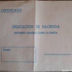 Sellos: SOBRE CARTA DELEGACIÓN DE HACIENDA AÑOS 70. Lote 136395668