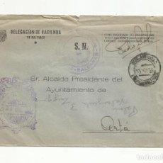 Sellos: CIRCULADA 1956 DE PALMA DE MALLORCA DELEGACION HACIENDA BALEARES AL ALCALDE DE ARTA. Lote 136470706